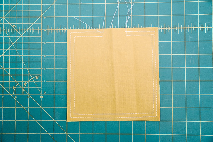 sew around perimeter of cornhole bags again using a 1/4 inch seam allowance