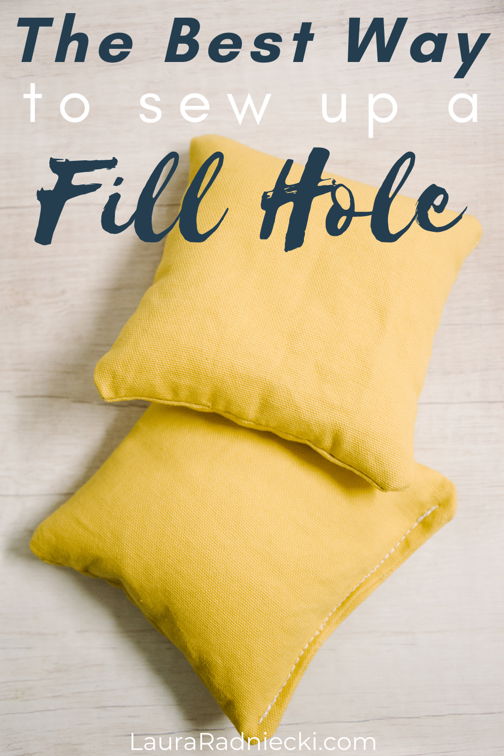 the best way to sew up a fill hole