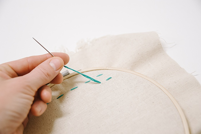 how to do a back stitch for embroidery
