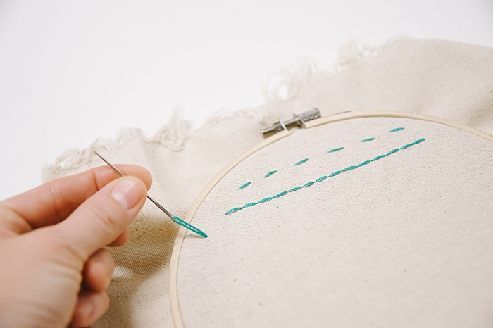 how to make a split stitch embroidery | types of embroidery stitches