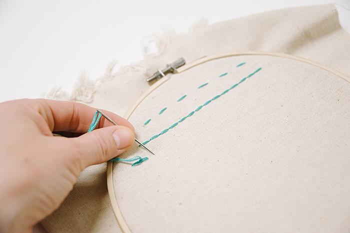 split stitch embroider how to