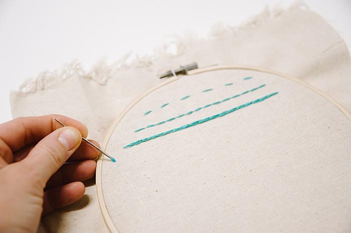 how to make a stem stitch