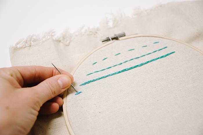 how to do a stem stitch embroidery