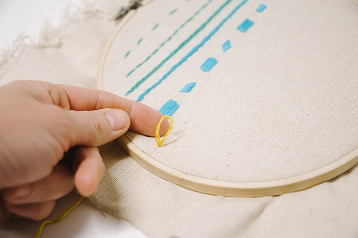 how to make a chain stitch