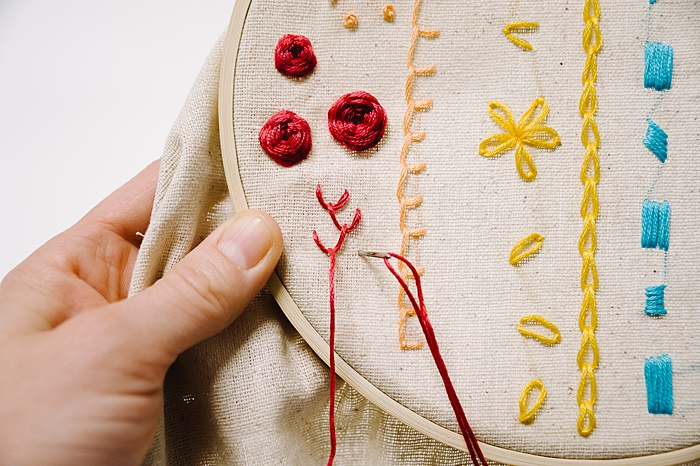 how to make seaweed for embroidery designs with feather stitch