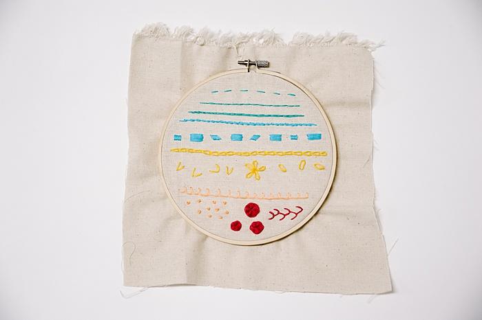 embroidery stitch sampler idea