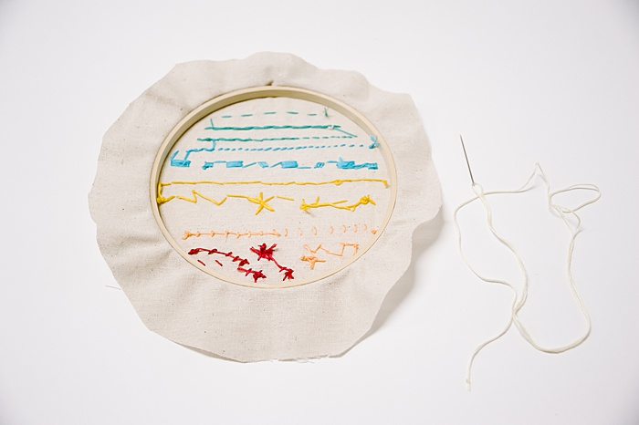 how to finish the back of an embroidery project in the hoop