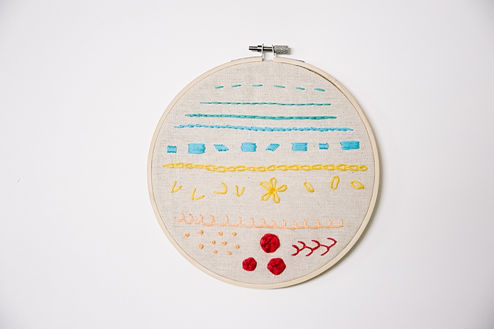 how to frame embroidery in the hoop