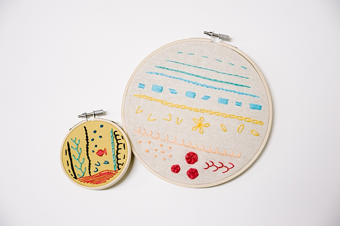 embroidery vs cross stitch - embroidery projects use a variety of multiple stitches