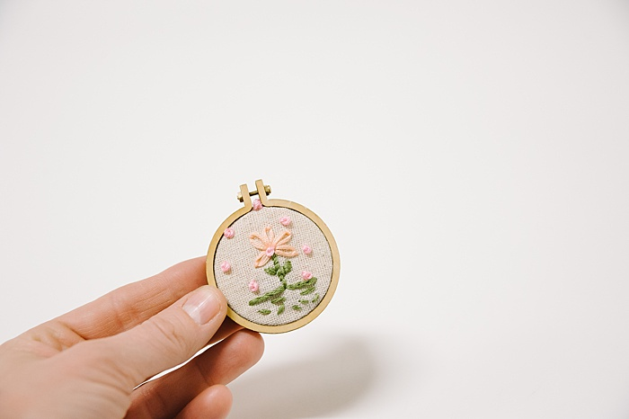 tiny hoop used for jewelry or Christmas ornaments