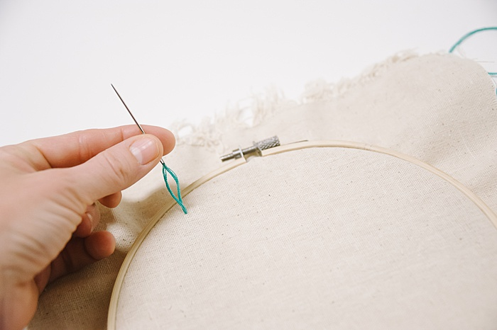 a straight embroidery stitch