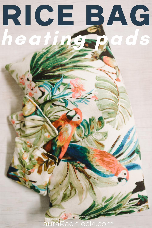 how to make rice bag heating pads