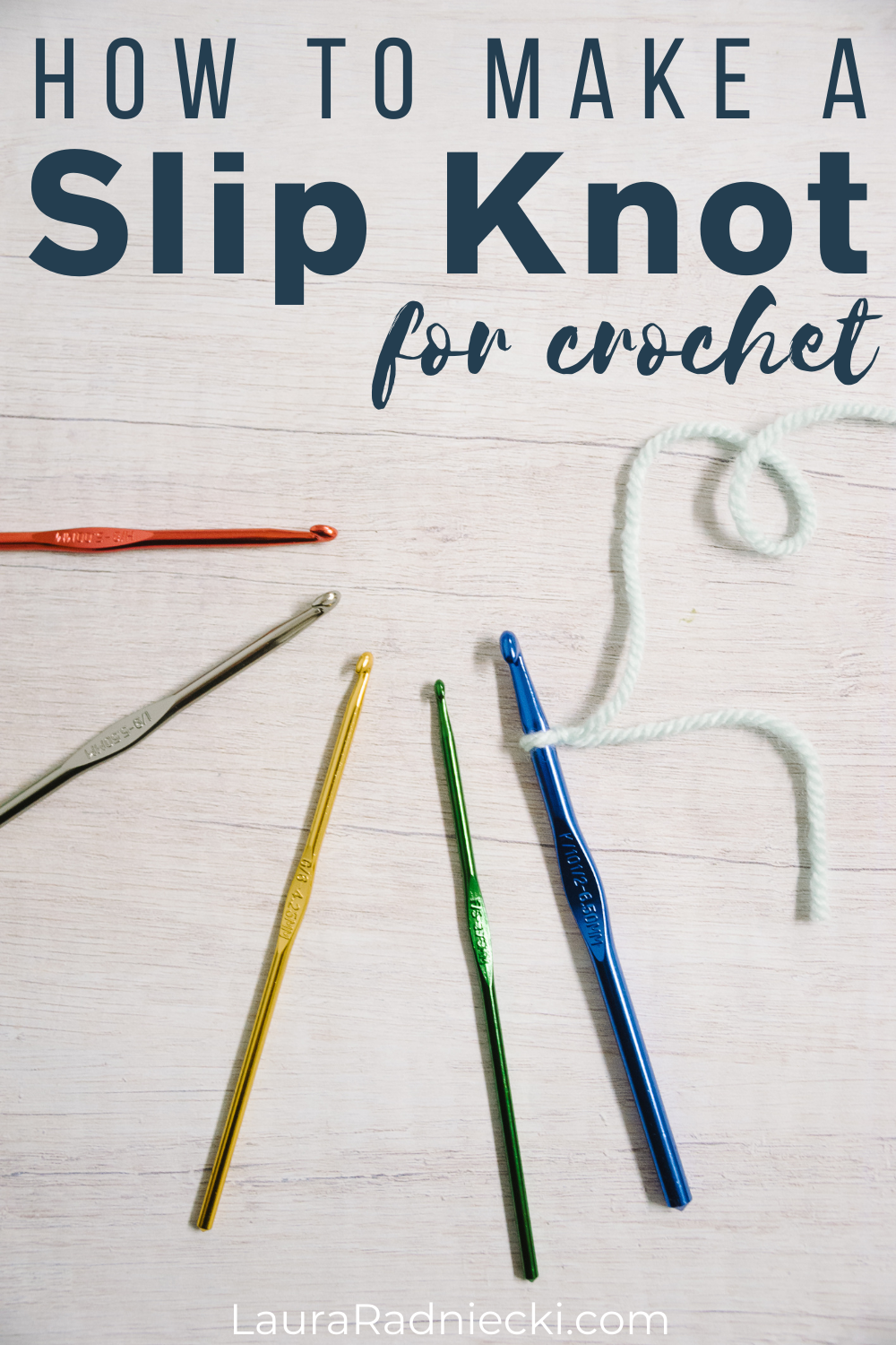how to make a slip knot for crochet