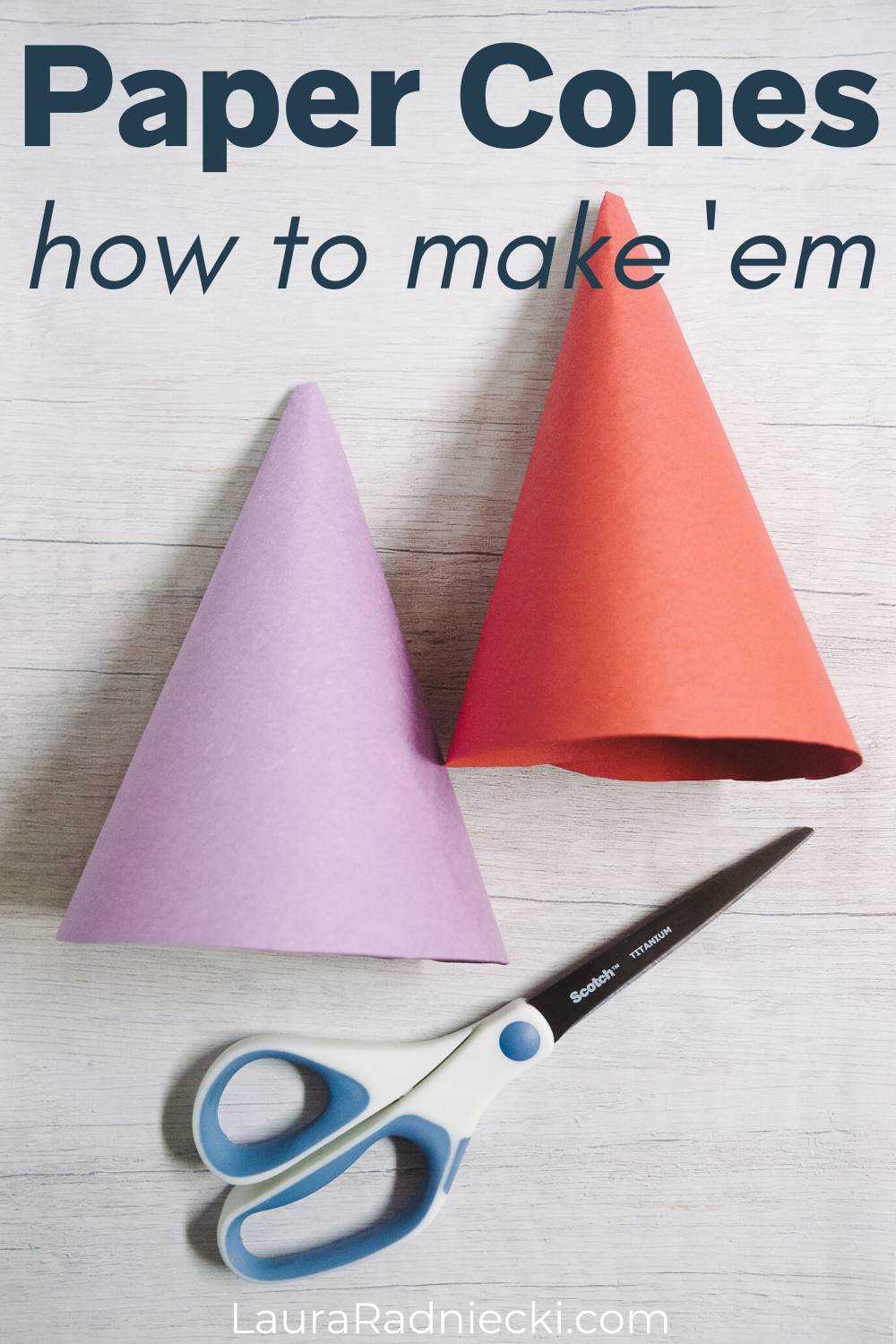 paper cones, how to make them