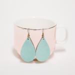 leather earrings template | leather teardrop earrings
