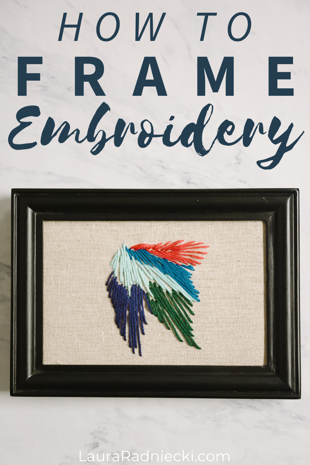 How to Display Embroidery Projects