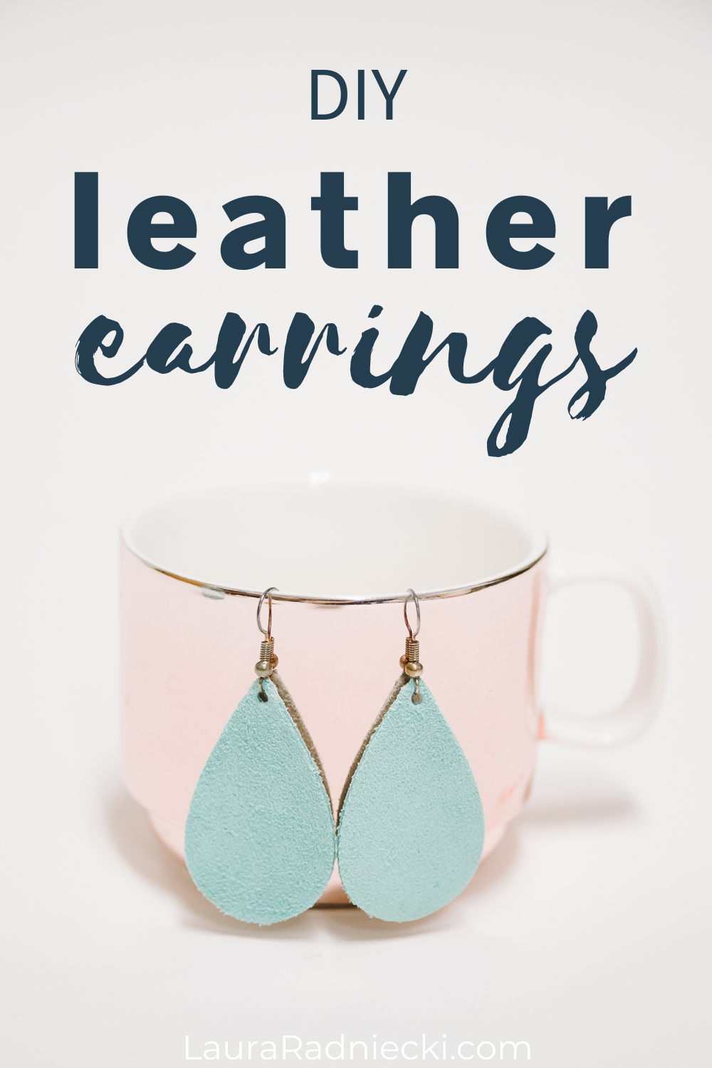 diy leather earrings without cricut