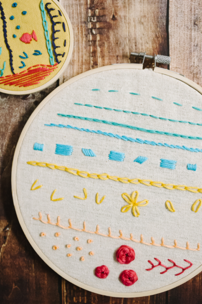 14 types of embroidery stitches