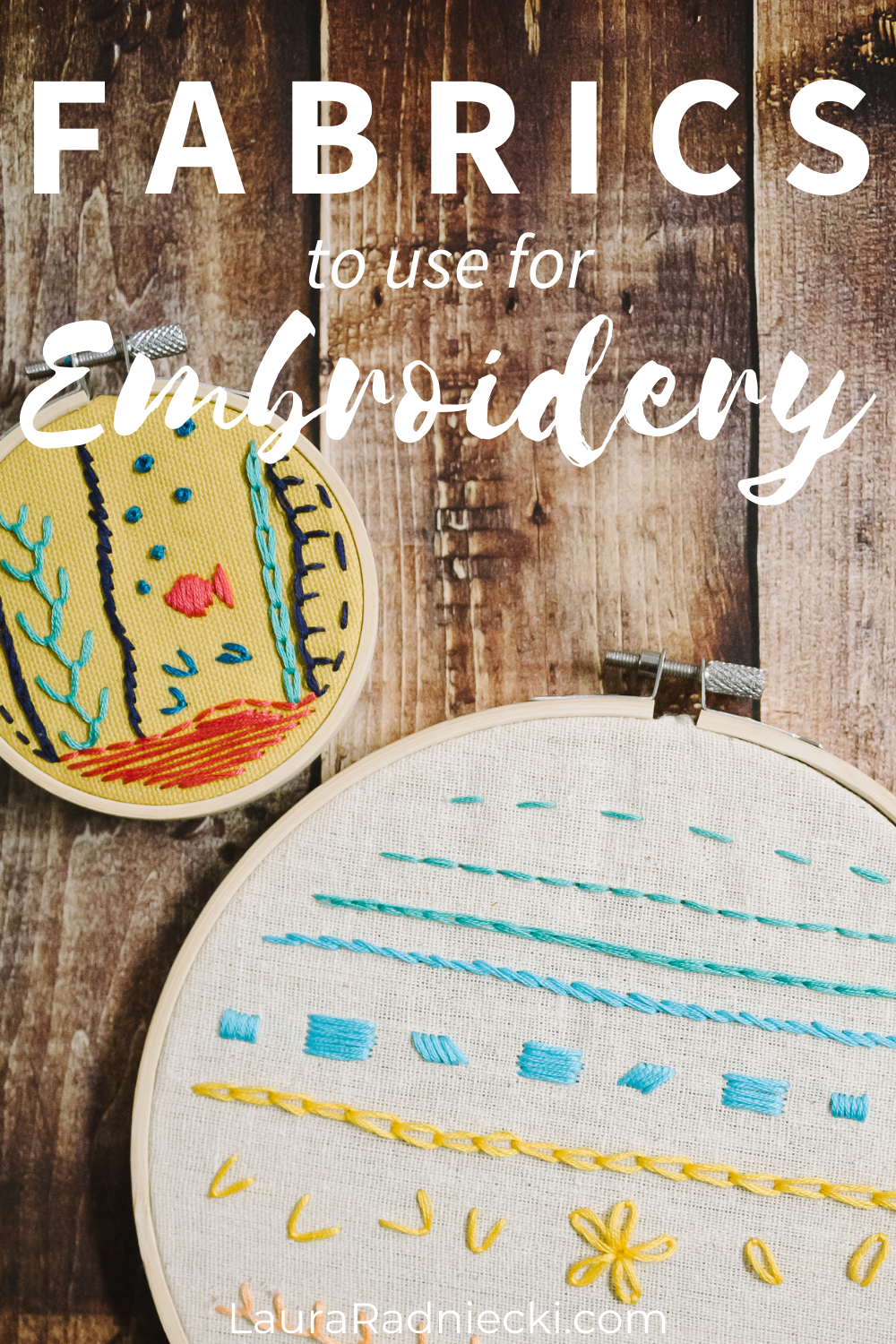 fabrics to use for embroidery