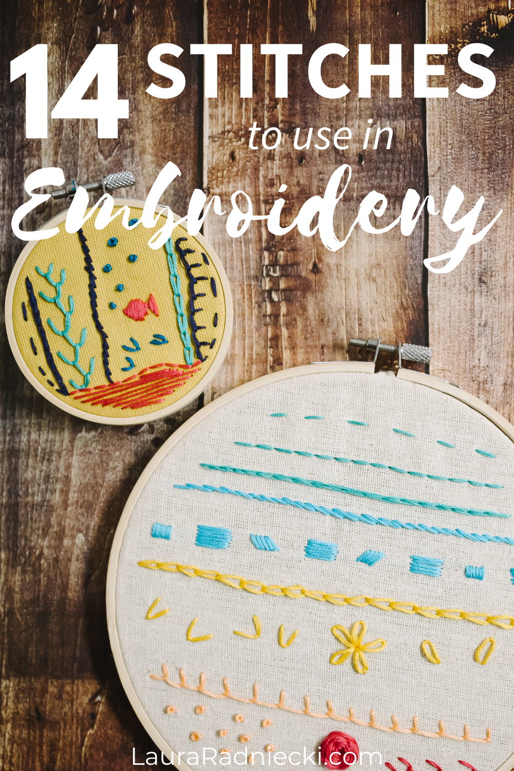 different embroidery stitches