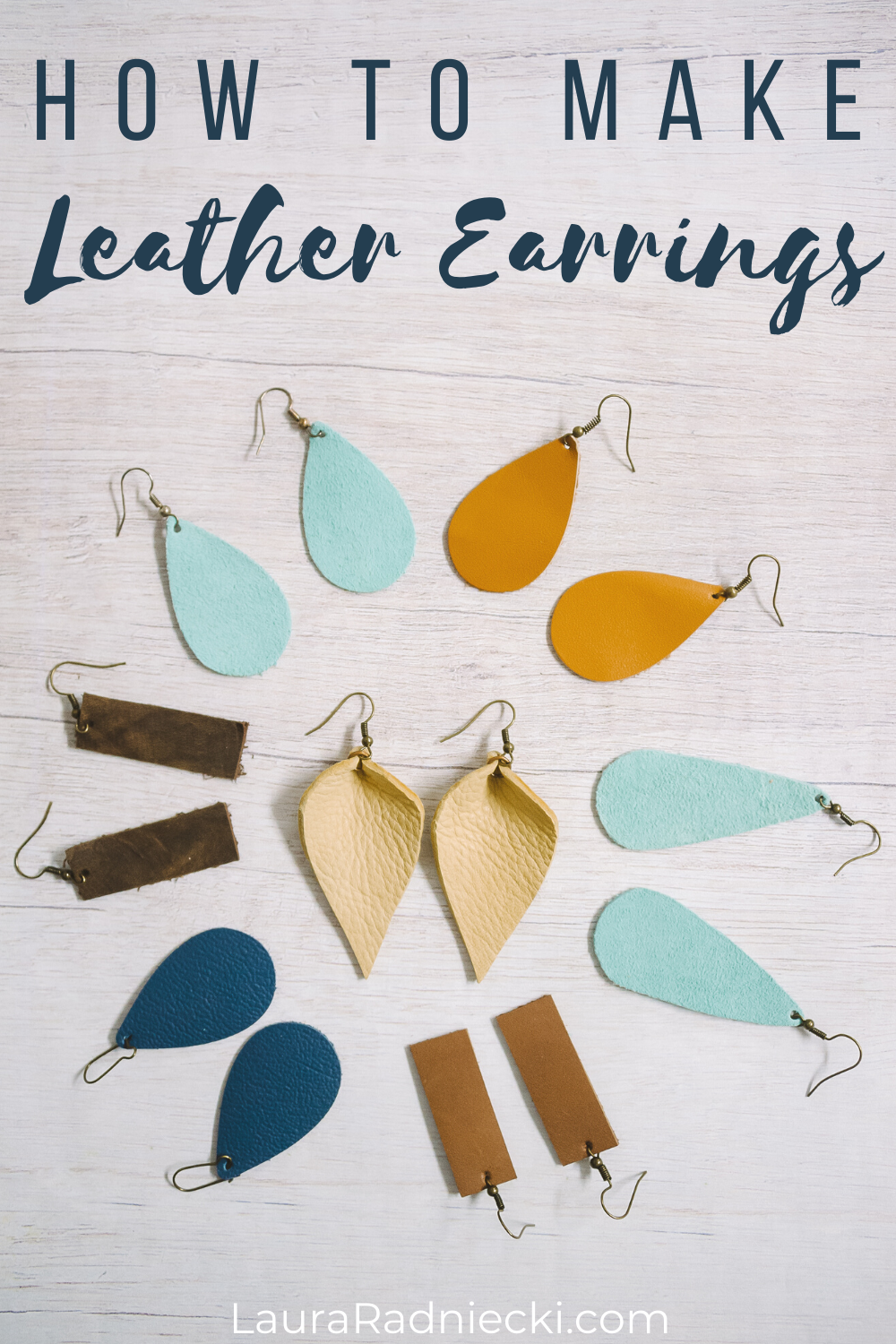 how to make leather earrings