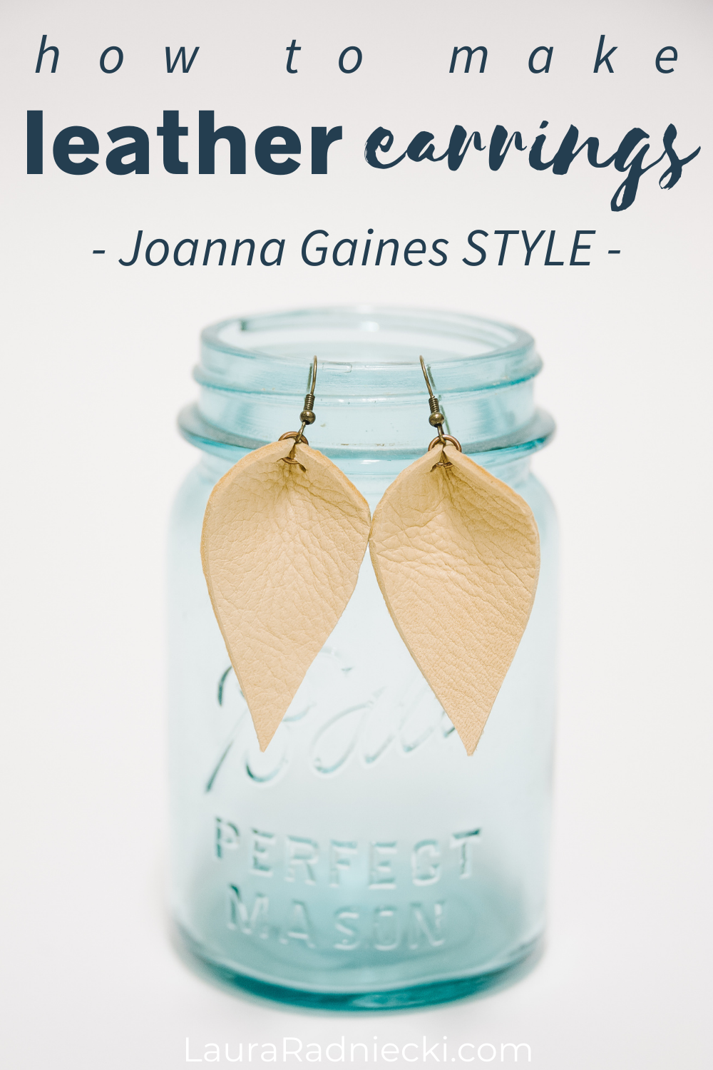 how to make leather earrings joanna gaines style