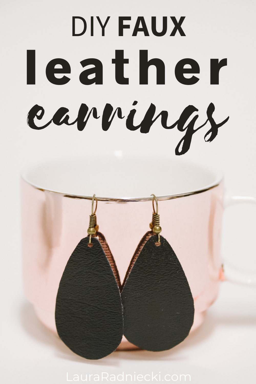 diy faux leather earrings