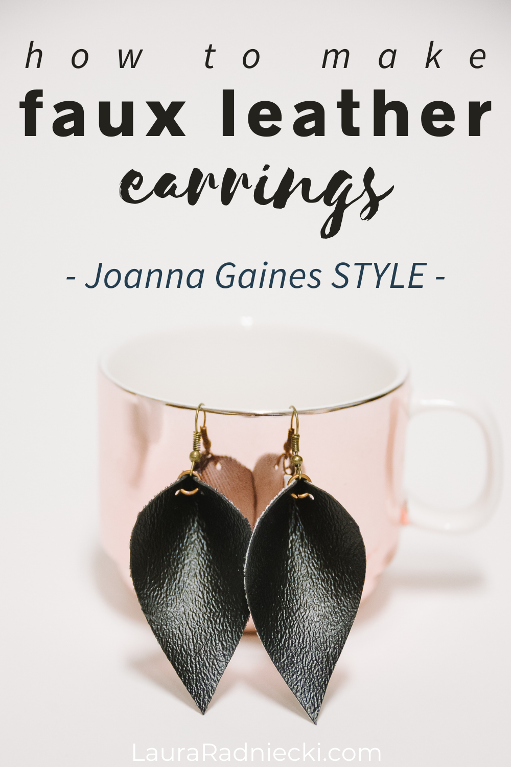 how to make faux leather earrings | joanna gaines style