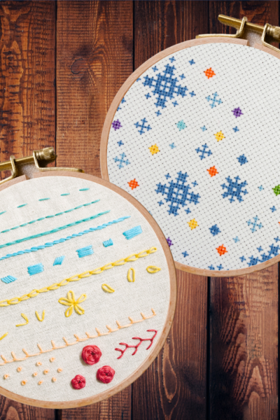 cross stitch vs embroidery | difference between cross stitch and embroidery