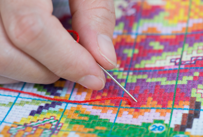 only need to know one stitch - the X stitch in order to start a cross stitch project