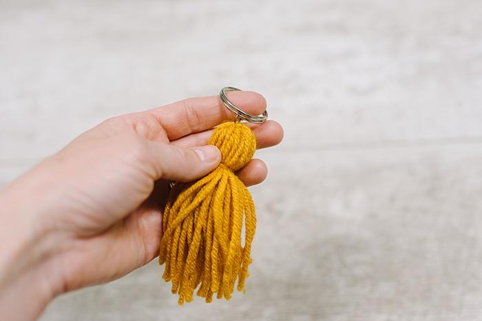 Add a keyring to your diy tassel keychain