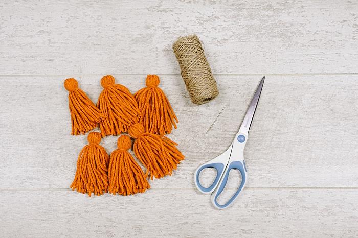supplies for making a diy tassel garland