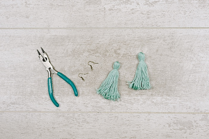 tassels ready to be made into earrings