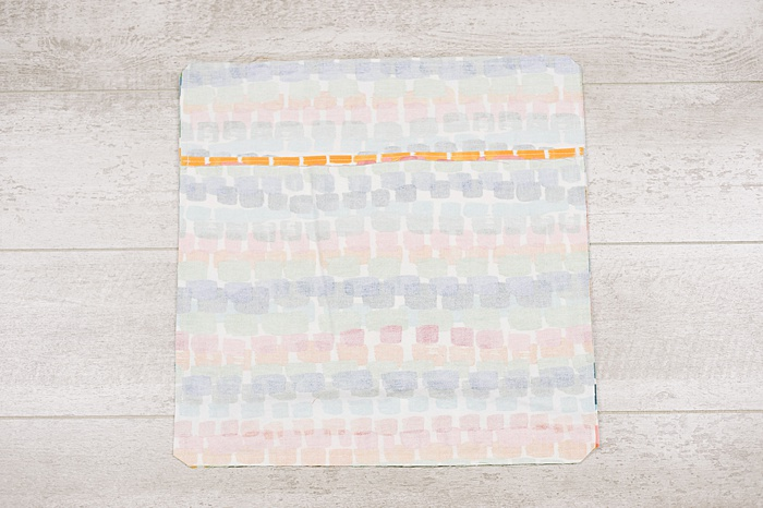 sew around the perimeter of your envelope pillow cover