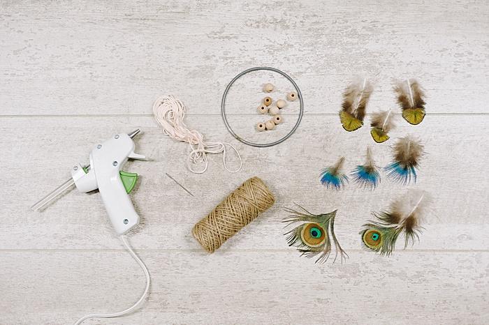 supplies needed to make a dreamcatcher