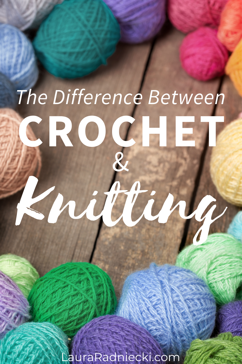 the difference between crochet and knitting