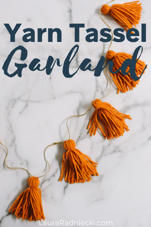 how to make a yarn tassel garland