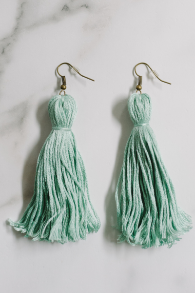 How to Make Tassel Earrings with Embroidery Floss