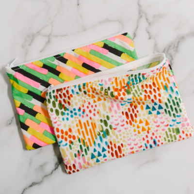 How to Make a 6 Minute Zipper Pouch
