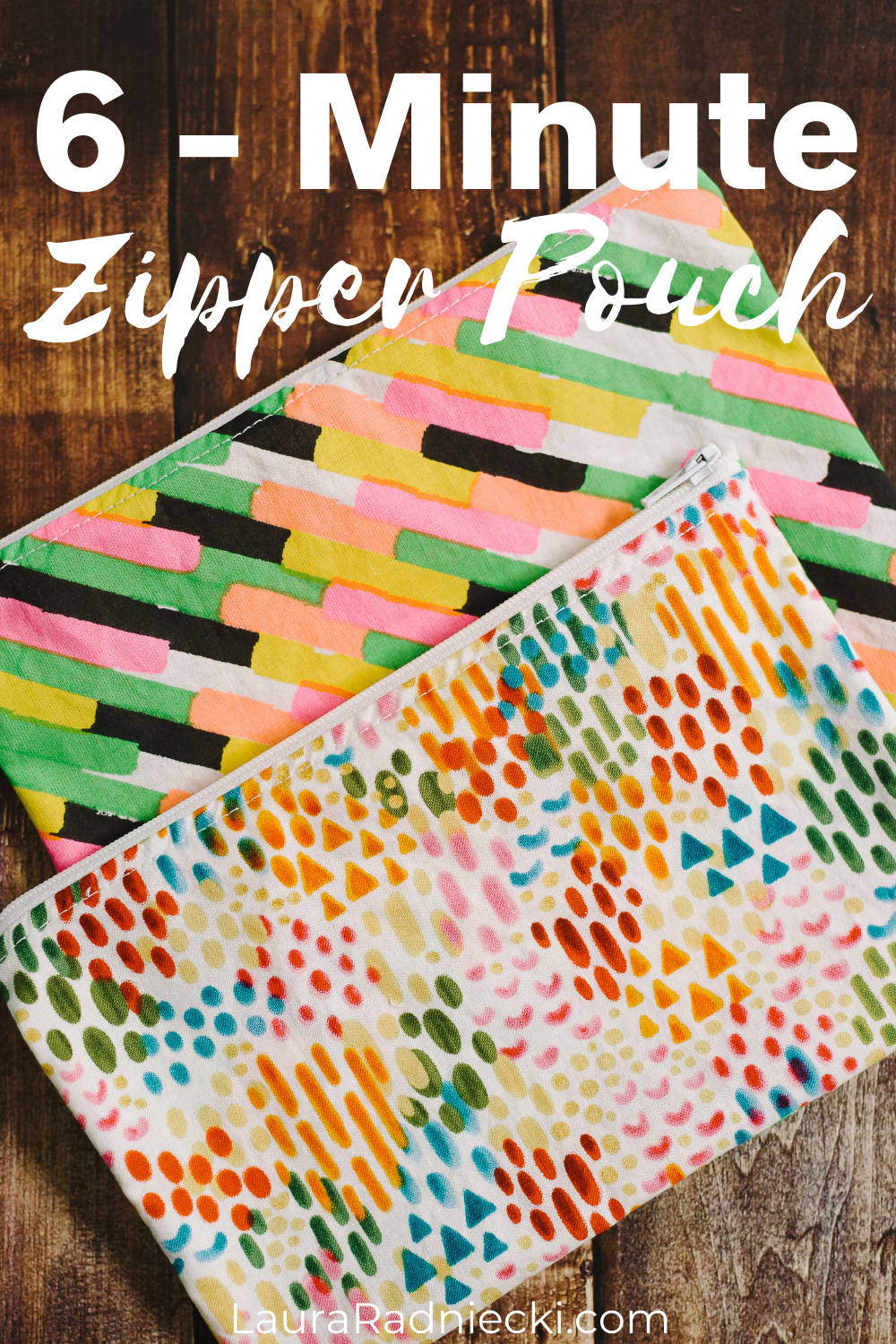 How to Make a DIY Zipper Pouch in 6 Minutes